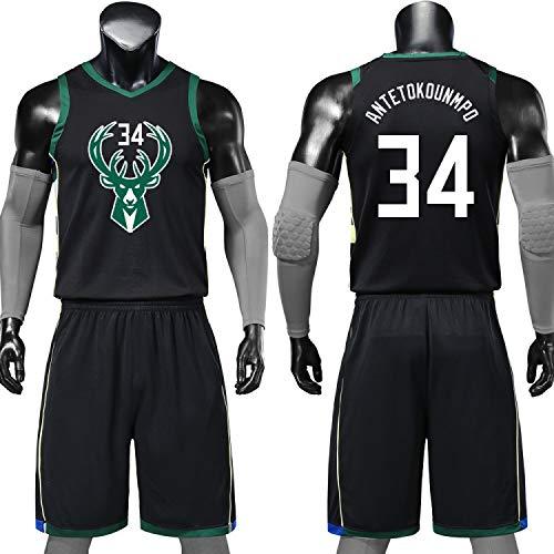 Jersey-LL Milwaukee Bucks 13ème Maillot Basket, Giannis Antetokounmpo Sports D'été Maillot Basket, Uniforme De Basket Y Compris Les Shorts