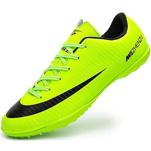 Ikeyo Chaussures de Football Homme Profession Athlétisme Entrainement Chaussures de Sport Adolescents en Plein Air Unsisexe - Vert - 36 EU