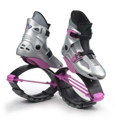 Kangoo Jumps Power Se Chaussures de Sport à Rebond Fille Multicolore Silver/Pink 32-35