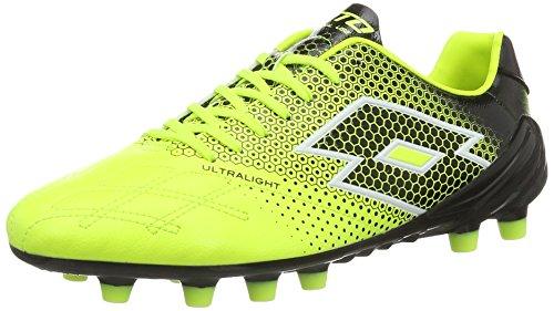 Lotto Sport S3943, Chaussures de Football Homme, Jaune (YLW Saf/Blk), 46 EU