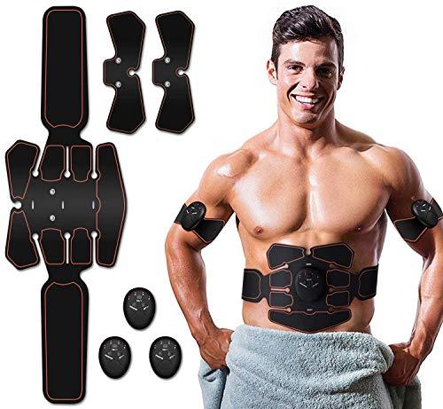 ZHENROG Electrostimulateur Musculaire Entraînement Abdominal/Cuisse/Bras Muscle EMS Forme d'exercice Fitness,Ceinture Abdominale Electrostimulation,Appareil Abdominal Gym Workout de Fitness