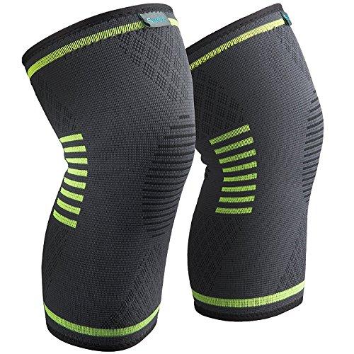 Sable Genouillère Crossfit Ligamentaire Sport de Compression Élastique mixte pour Maintien (Design anti-dérapant, Distribution de pression homogène, Tissu Flexible & respirant) M