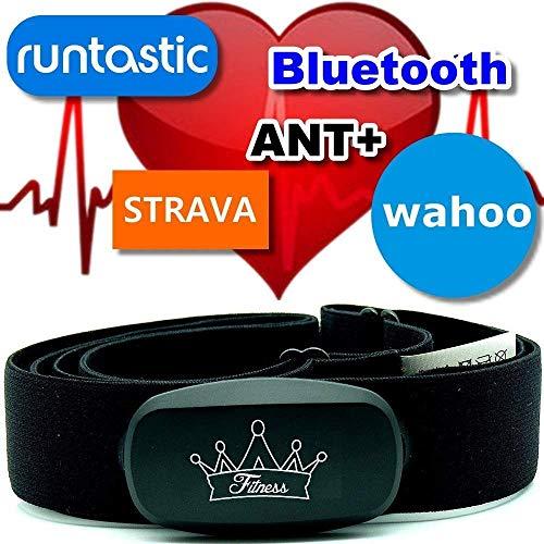 Heartbeat ANT+ & Bluetooth für Garmin Wahoo Polar RUNTASTIC Strava ENDOMONDO compatible avec Tomtom Apple iPhone Brustgurt Herzfrequenzmesser HRM Sensor (Heartbeat)