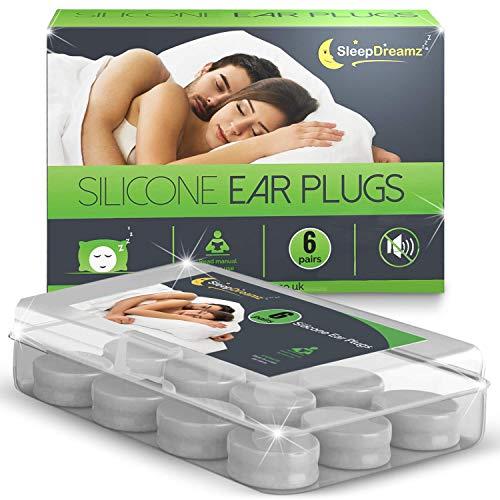Bouchons d oreilles SleepDreamz (6 paires) – Bouchons d oreilles anti bruit – Boules quies conçus pour offrir un protection de haute décibels – Bouchons d oreilles confortables les ronflements.