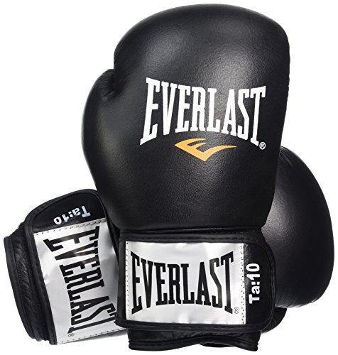 Everlast 1100 12 oz Gants de Boxe musculation des pectoraux mixte adulte Noir/Rouge 30 cm