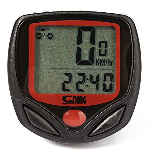 SUNDING SD-548B Compteur de Vitesse avec Fil pour Vélo & VTT - Chronomètre vélo Compteur de Vitesse Compteur kilométrique 14 Fonctions - (Noir)