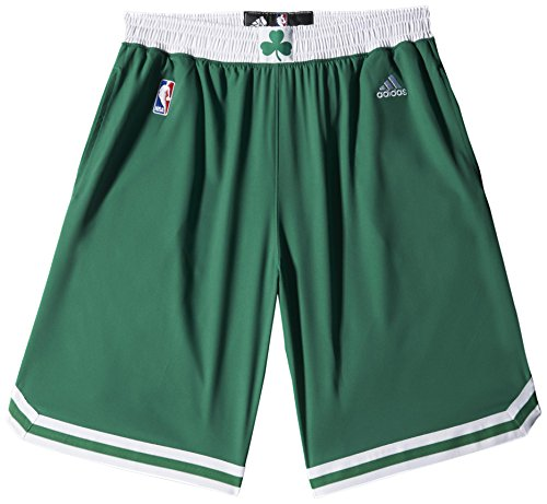 adidas NBA Woven Team Short Homme Vert Verde/Bianco (NBA Boston Celtics 5 3He) XXS