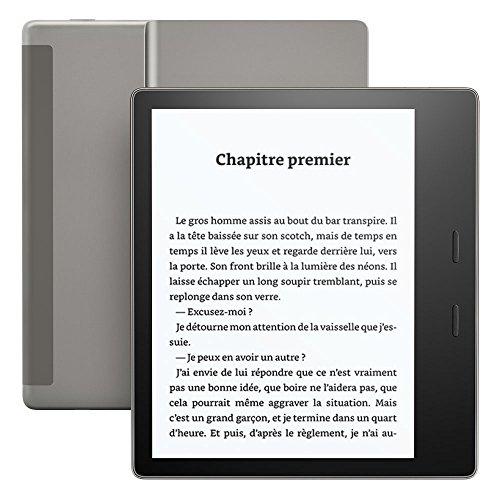 Liseuse Kindle Oasis - Graphite, Résistante à l'eau, Écran haute résolution 7' (17,7 cm) 300 ppp,  32 Go, 3G gratuite + Wi-Fi