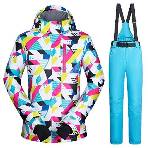 Sanmubo Combinaison De Ski Femmes Imperméable Coupe Sports De Plein Air Combinaison De Ski Veste Épaissir La Neige Chaud Vêtements De Ski Ensembles De Ski Veste Ski Et Snowboard Costumes
