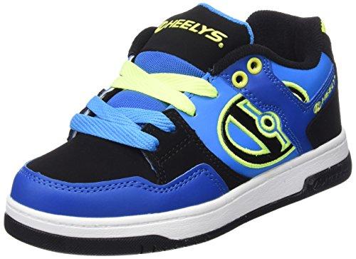 Heelys  Flow 770608, Sneakers garçon - Multicolore - multi (Royal/Black/Lime), 36.5 EU ( 4 UK  )
