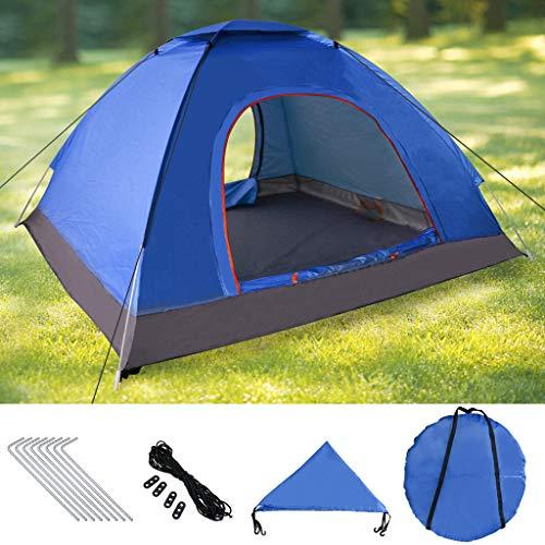 Pop Up Tente Instantanée, Tente Dôme Etanche 3-4 Personnes Tente Bivouac Imperméable Anti UV Léger pour Randonnée Plage Camping Extérieur