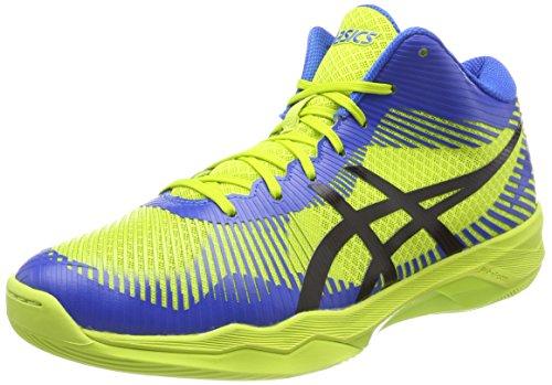 ASICS Volley Elite FF MT, Chaussures de Volleyball Homme, Multicolore (Energy Green/Directoire Blue/Black 7743), 42 EU