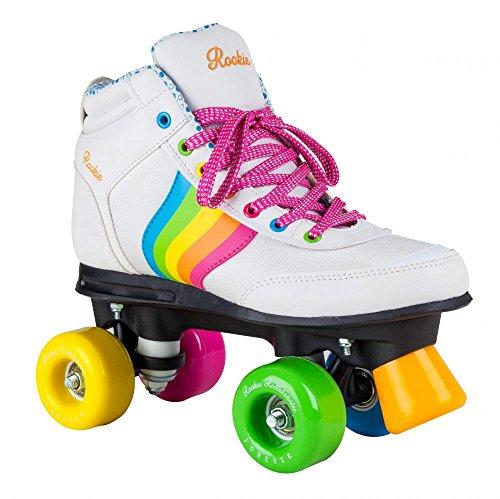 Rookie  -Forever Rainbow - Patins à 4 roues - Mixte Adulte - Blanc (multicolore) - 33