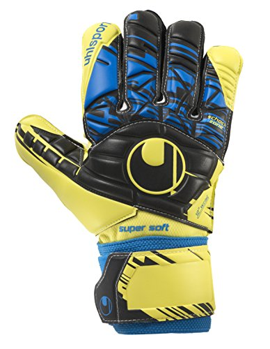 uhlsport Messieurs Speed Up Super Soft Gants de Gardien de But, Homme, Speed Up Supersoft, Lite Fluo Gelb/Schwarz
