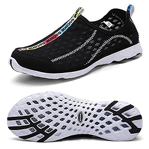 DoGeek Chaussures Aquatiques Homme Femme Chaussures de Plage- Water Shoes pour Sport Aquatique,pour Tous Les Sports de Plage et d'eau - Respirant Ãtà Chaussons - Noir - 38 EU
