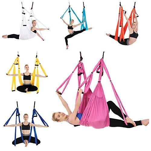 Hankyky Hamac de Yoga Anti-gravité Multicolors, Dispositif de Traction aérienne pour balançoire battante de Yoga, Mise en Forme du Corps Pilates, élingue de trapèze de Yoga hamac
