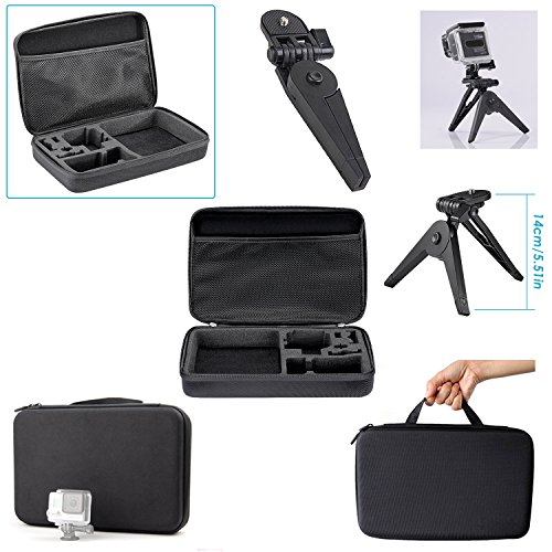Neewer 10084351 - 21-In-1 Action Camera Accessory Kit for GoPro Hero Session/5 Hero 1 2 3 3+ 4 5 6 7 SJ4000 5000 6000 DBPOWER AKASO VicTsing APEMAN WiMiUS Rollei QUMOX Lightdow Campark And Sony Sports DV and More