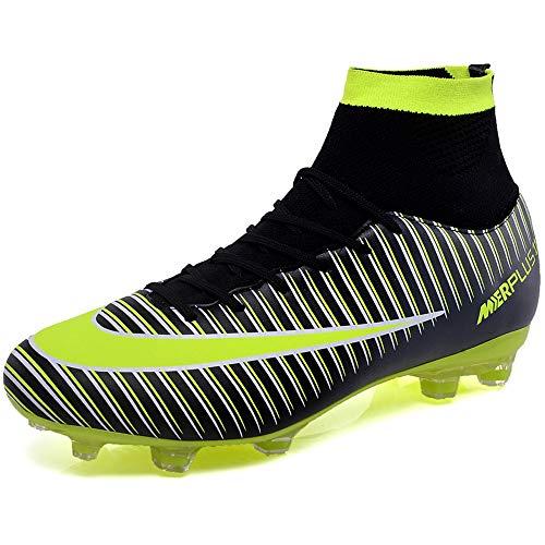 BOLOG Chaussures de Football Homme High Top Profession Athlétisme Entrainement Chaussures de Sport Adolescents Chaussures de Foot en Plein Air Unsisexe