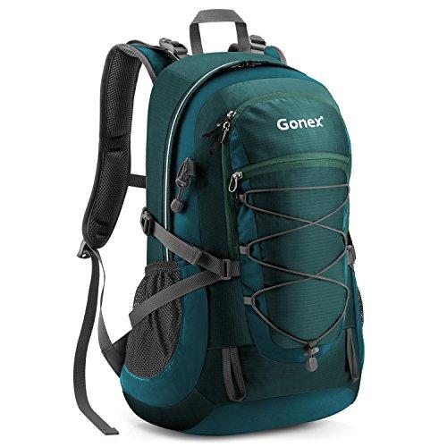 Gonex 35L Sac A Dos Sac de Montagne Imperméable Etanche avec Housse De Pluie pour Alpinisme Randonnée Trekking Camping Voyage