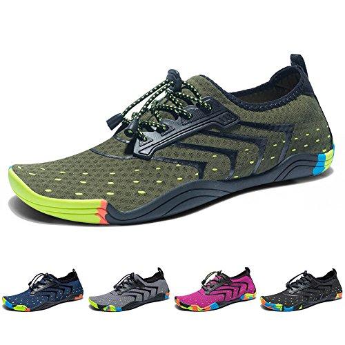 Madaleno Chaussures Aquatiques pour Homme Femme Chaussures d'eau Chaussures de Plage Chaussures de Yoga Plongée Surf Piscine Sport Aquatique