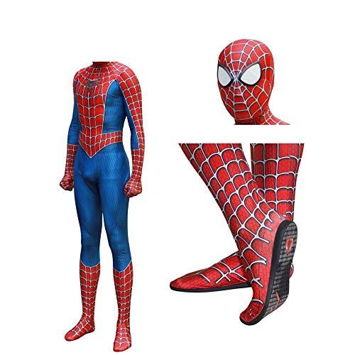 JUFENG Raimi Spiderman Kostuum Costume 3D Imprimer Complet du Corps Halloween Cosplay Costume Semelle Lentille Masque pour Adult Enfants Halloween Costume,A-XXL