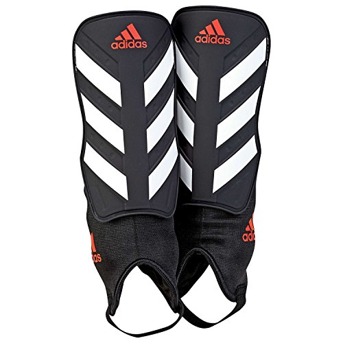 adidas Everclub Protège-tibias de football  - Mixte Adulte - Noir (black/White/Solar red) - L