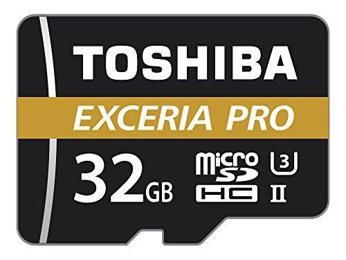 Toshiba Exceria Pro THN-M501G0320E7 Carte mémoire microSD Class 10 32 Go