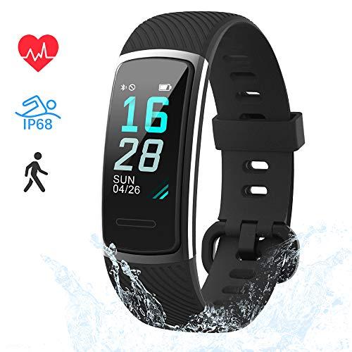 LIFEBEE Montre Connectée Bracelet Connecté Cardiofréquencemètre Fitness Tracker d'Activité IP68 Etanche Sport Running Podomètre Calorie Smartwatch Homme Femme pour Android iOS iPhone