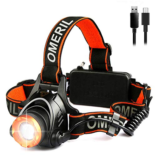 Lampe Frontale LED USB Rechargeable 200 Lumen 5 Mode Eclairage Puissante Étanche