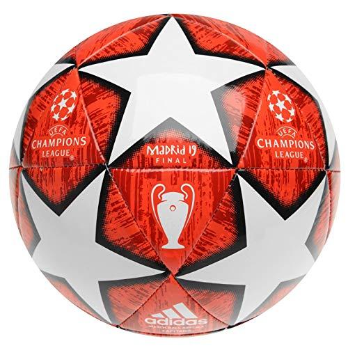 adidas Taille 4 2019 Champions League Madrid Ballon de Football Final, Rouge/Blanc Ans 8-12 Années