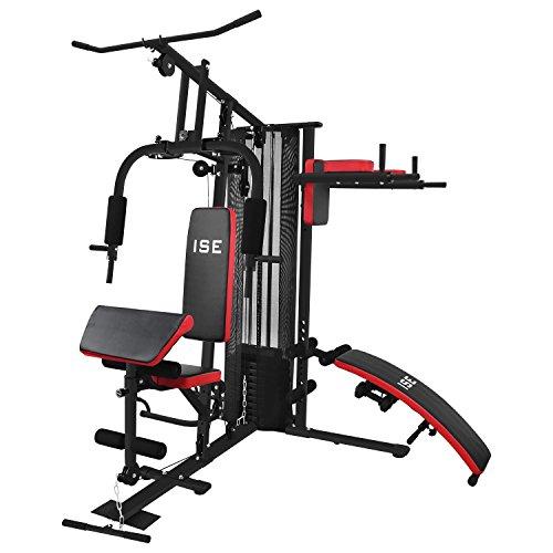 ISE Station de Musculation Appareil de Musculation Fitness Multifonction avec Poids SY-4009