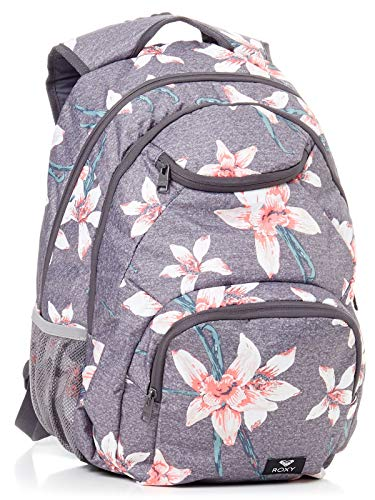 Roxy Shadow Swell Sac à dos moyenne femme Femme ERJBP03736 _rosa Rose / gris (charcoal heather flower field) 24 l