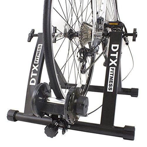 DTX Fitness Entraineur Turbo Réglable pour Vélo - Noir - Utilisez Votre Vélo Comme Vélo d'Appartement