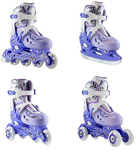 Rollers 4en 1triskates Patins à glace Nils nh0320a Violet Taille 31–38réglable M violet/blanc