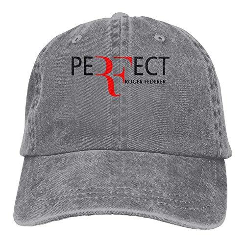 Roger Federer Adult Hats Unisex Fashion Plain Cool Adjustable Denim Jeans Baseball Cap Cowboy