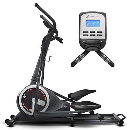 Sportstech Vélo elliptique d'Appartement CX640 Compatible Application Smartphone, Roue d'inertie 24 KG, 26 programmes d'entraînement, Fonction HRC, Porte-Tablette, Appareil Fitness