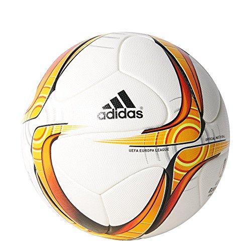 adidas UEFA Europa League OMB Ballon White/Solar Gold/Solar Red/Black/Silver Metalic Taille 5