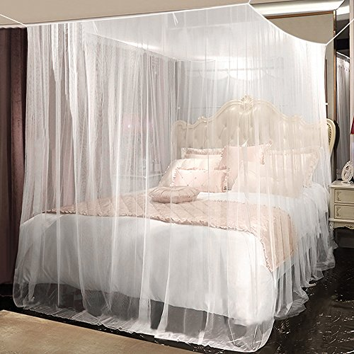 Moustiquaire, yotame Filet Anti-moustique Grande Ciel de lit Baldaquin pour Lits Doubles anti-moustique-Insectes (220 x 200 x 210 cm)