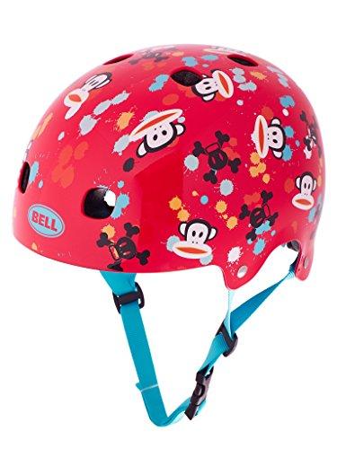 BELL Casque de vélo Segment jR pour Enfant Rouge/Motif Paul Frank Paint Ball 210093015 48-53 cm