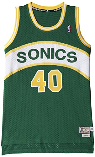 adidas Intl Retired Jersey Maillot de basketball Boston Celtics de basketball pour homme - vert (Nba Seattle Super Sonics) - S