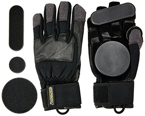 Osprey Longboard, Downhill, Freeride Slide Gloves with Removeable Pucks Mixte Enfant, Noir, Medium