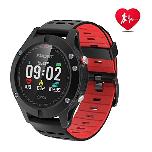 Montre intelligente,montre de sport avec altimètre et GPS intégré,tracker de fitness pour la course, clycling randonnée, moniteur de fréquence cardiaque étanche IP67 pour hommes, femmes et aventuriers