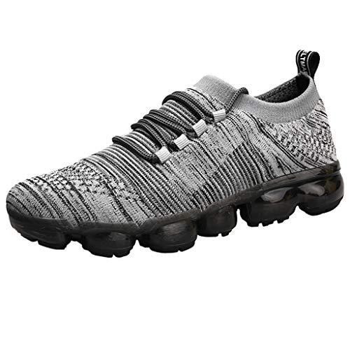 Xmiral Chaussures Homme Course Solides, Respirantes, à Lacets et légères Sport (44 EU, Gris)