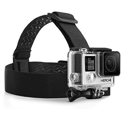 MyGadget Casque Bandeau de Tête pour Caméra d'action - Sangle de Fixation Frontale Confortable Diadème Élastique pour Cam GoPro Hero 7, 6, 7, 6, 5, 4, 3+, 3, 2, 1
