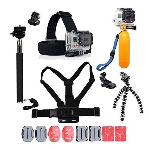 Pour Gopro Accessoires, YHTSPORT Gopro Accessoires Kit pour Gopro Hero 6 5 4 3 Hero Session et SJ4000 Xiaomi Yi DBPOWER et autres caméras de sport (Black)