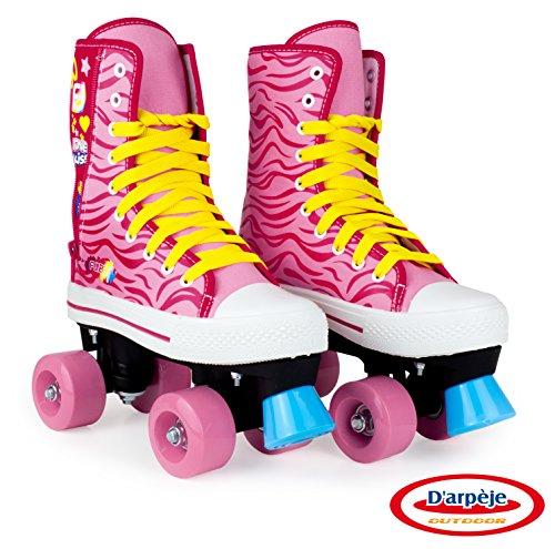 Patins à roulette / Rollers 4 roues avec frein avant Enfant Ado - Taille 33 - Funbee Colours - D'arpèje - OFUN215-C1