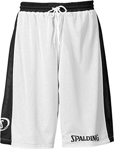 SPALDING - ESSENTIAL REVERSIBLE SHORT - Short de basket - Short reversible - Confort maximal - noir/blanc - FR : M (Taille Fabricant : M)