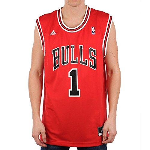 adidas Chicago Bulls Derrick Rose NBA Replica Home Maillot Homme Rouge/Noir  -  FR :  S