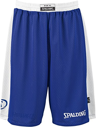 SPALDING - ESSENTIAL REVERSIBLE SHORT - Short de basket - Short reversible - Confort maximal - royal/blanc - M