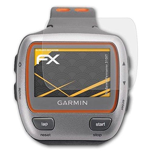 atFoliX Protecteur d'écran pour Garmin Forerunner 310XT Film Protection d'écran - 3 x FX-Antireflex Anti-reflet Film Protecteur